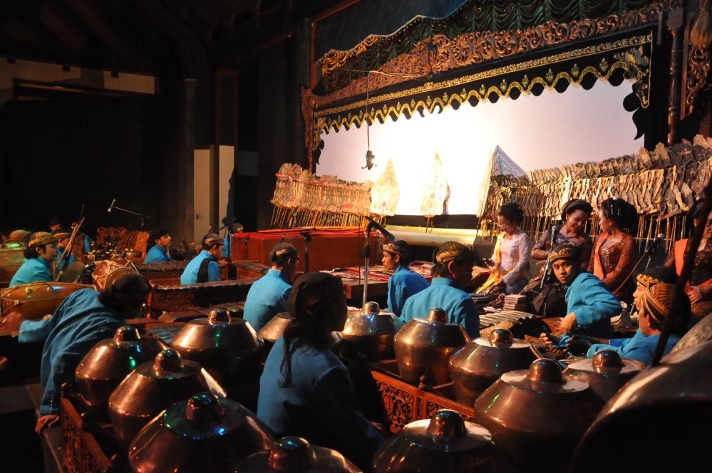 dispositif wayang kulit  temple PRAMBANAN