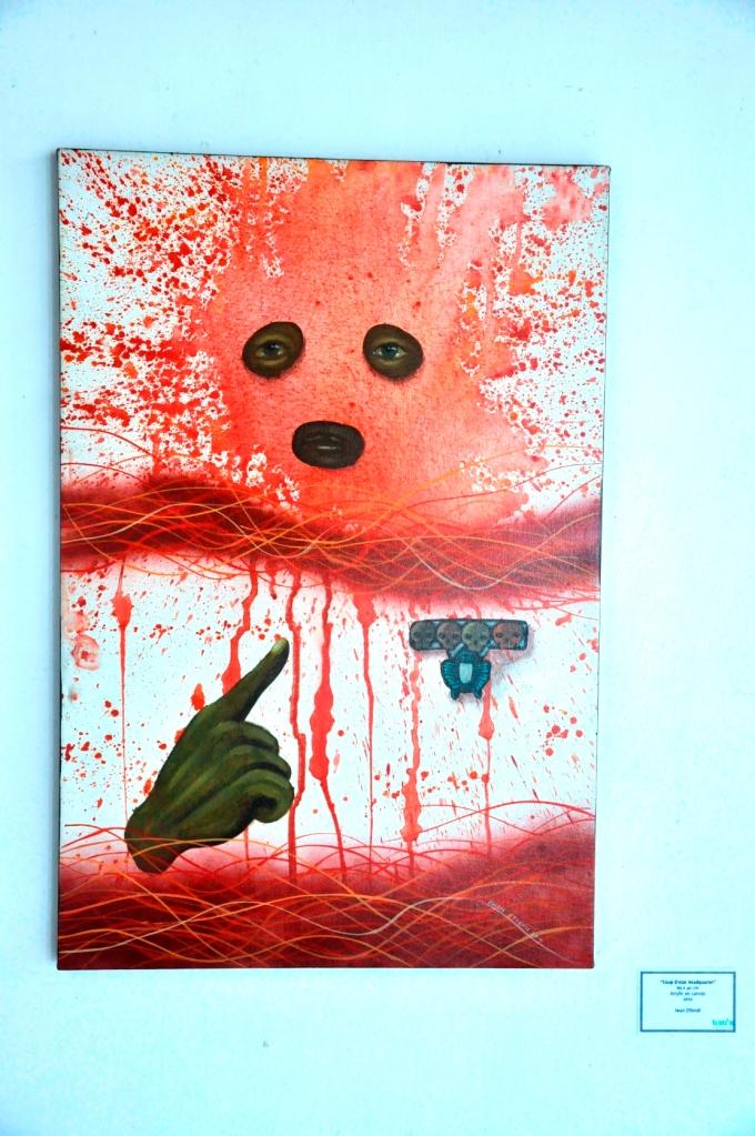Peinture d Iwan Effendi, artiste de papermoon puppet theatre, yogyakarta,