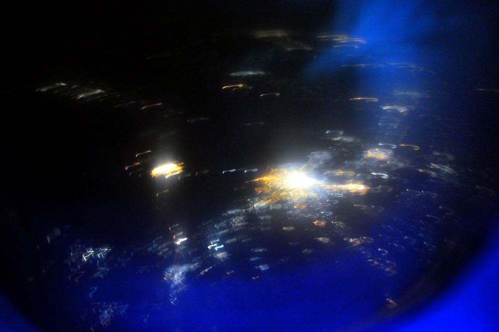 2. De l'avion Retour, au dessus de Madras. Inde. Automne2085