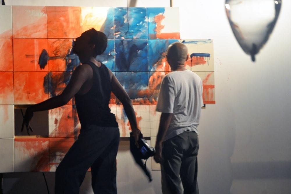 Wowo, vidéo et Kokok P Sancoko, peinture